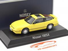 Nissan 180SX Bouwjaar 1989 geel 1:43 Norev