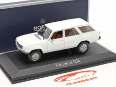Peugeot 504 Break Dangel year 1980 Alaska white 1:43 Norev
