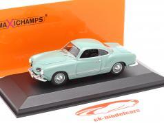 Volkswagen VW Karmann Ghia cupé Año de construcción 1955 ligero azul 1:43 Minichamps