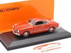 Volkswagen VW Karmann Ghia coupe Byggeår 1955 rød 1:43 Minichamps