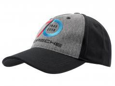 Porsche Baseball-Cap 70 Jaren Porsche 1948 - 2018 zwart / Grijs