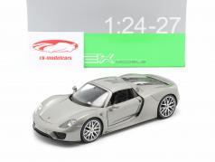 Porsche 918 Spyder Baujahr 2015 grau metallic 1:24 Welly