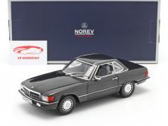 Mercedes-Benz 300 SL 可转换 (R107) 1986 蓝黑 金属的 1:18 Norev