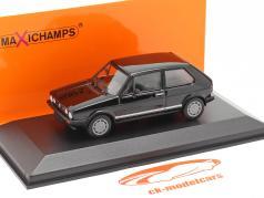 Volkswagen VW Golf 1 GTI Año de construcción 1983 negro 1:43 Minichamps
