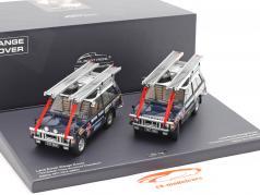 2-Car Set Land Rover británico Trans-americana expedición 1971-1972 1:43 Minichamps