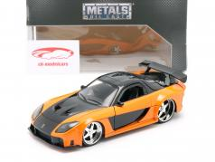 Han's Mazda RX-7 Fast & Furious Tokyo Drift (2006) naranja / negro 1:24 Jada Toys