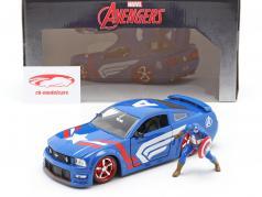 Ford Mustang GT 2006 用 数字 Captain America Marvel Avengers 1:24 Jada Toys