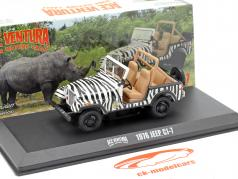 Jeep CJ-7 1976 Film Ace Ventura - When Nature Calls (1995) zwart / Wit 1:43 Greenlight