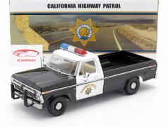 Ford F-100 1975 California Highway Patrol negro / Blanco 1:18 Greenlight