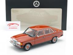 Mercedes-Benz 200 (W123) Bouwjaar 1980 - 1985 engels rood 1:18 Norev