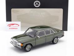 Mercedes-Benz 200 (W123) Byggeår 1980 - 1985 cypressgrøn metallisk 1:18 Norev