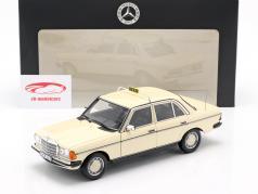 Mercedes-Benz 200 (W123) taxi Bouwjaar 1980 - 1985 licht ivoor 1:18 Norev
