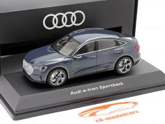Audi e-tron Sportback Bouwjaar 2020 plasma blauw 1:43 iScale