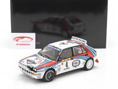 Lancia Delta HF Integrale #4 vencedora Rallye Monte Carlo 1992 Auriol, Occelli 1:18 Kyosho
