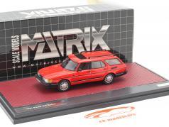Saab 900 Safari Bouwjaar 1990 rood 1:43 Matrix