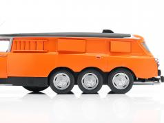 Citroen DS PLR Break Michelin Mille Pattes 1972 Orange / Jaune / noir 1:18 CMR