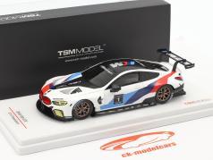 BMW M8 GTE #1 Presentation Car 2018 blanc / bleu / rouge 1:43 TrueScale