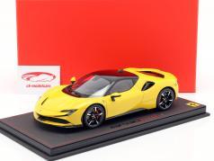 Ferrari SF90 Stradale Baujahr 2019 Modena gelb / schwarz 1:18 BBR