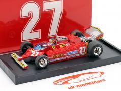 G. Villeneuve Ferrari 126CK Turbo N° 27 USA GP de Formule 1 1981 1:43 Brumm