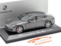 Porsche Panamera Turbo (2. Gen.) Executive agaat Grijs metalen 1:43 Herpa