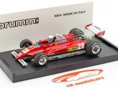 Didier Pironi Ferrari 126C2 Turbo #28 GP San Marino formule 1 1982 1:43 Brumm
