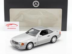 Mercedes-Benz 500 SL (R129) Roadster 1989-1995 brillantsilber metallic 1:18 Norev