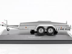 Autotrailer zilver 1:43 Schuco