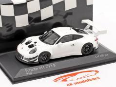 Porsche 911 (991) GT3 R Plain Body Version 2018 白色 1:43 Minichamps