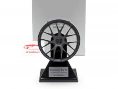 Porsche 911 GT3 RS 2020 Magnesium-Felge 21 inch satin schwarz 1:5 Minichamps