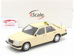 Mercedes-Benz E班 (W124) 建设年份 1989 出租车 1:18 iScale