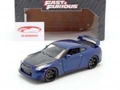 日产GT-R (R35) 2009年 电影:速度与激情7 2015 深蓝色 1:24 Jada Toys