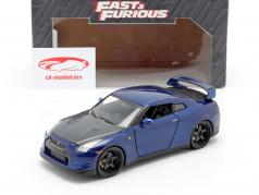Nissan GT-R (R35) Anno 2009 Fast and Furious 7 2015 blu scuro 1:24 Jada Toys
