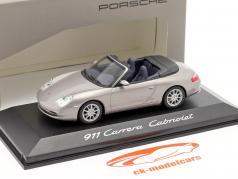 Porsche 911 (996) Carrera Cabriolé gris 1:43 Minichamps