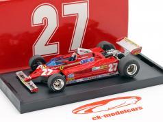 Gilles Villeneuve Ferrari 126CK #27 ganador Mónaco GP fórmula 1 1981 1:43 Brumm