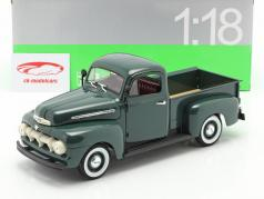 Ford F-1 Pick Up Ano 1951 verde 1:18 Welly