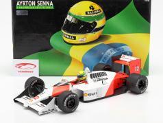 Ayrton Senna McLaren MP4/4 #12 Campeón mundial fórmula 1 1988 1:12 Minichamps