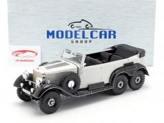 Mercedes-Benz G4 (W31) Ano de construção 1934-1939 cinza claro 1:18 Model Car Group