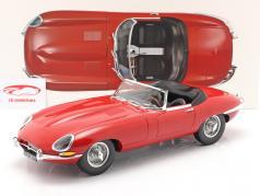 Jaguar E-Type Cabriolet 建设年份 1962 红 1:12 Norev