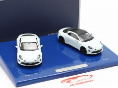 2-Car Set Alpine A110 Pure & A110S Bouwjaar 2019 Wit 1:43 Norev