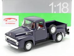 Ford F-100 Pick Up Ano 1956 azul 1:18 Welly
