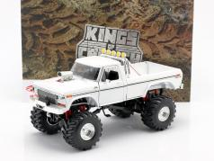 Ford F-250 Monster Truck 48 inch tires 1979 Blanco 1:18 Greenlight
