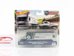 Set Team Transport: Mercedes-Benz 300 SL & Euro Hauler 1:64 HotWheels
