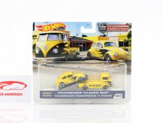 Set Team Transport: Volkswagen VW Classic Bug & Transporter T1 Pick-Up 1:64 HotWheels