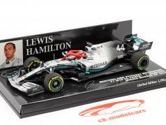 L. Hamilton Mercedes-AMG F1 W10 #44 Monaco GP Wereldkampioen F1 2019 1:43 Minichamps