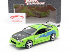Brian's Mitsubishi Eclipse The Fast and the Furious 2001 grün 1:24 Jada Toys