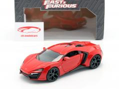 Lykan Hypersport from the Movie Fast and Furious 7 2015 red 1:24 Jada Toys