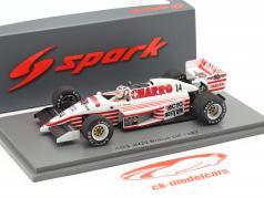 Pascal Fabre AGS JH22 #14 británico GP fórmula 1 1987 1:43 Spark