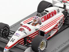 Pascal Fabre AGS JH22 #14 britisk GP formel 1 1987 1:43 Spark
