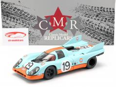 Porsche 917K Gulf #19 2do 24h LeMans 1971 Attwood, Müller 1:18 CMR