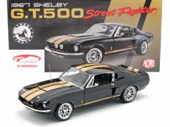 Ford Shelby GT500 Street Fighter 1967 nero / oro 1:18 GMP